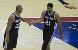 Tim Duncan, Boris Diaw, San Antonio Spurs, Keith Allison, Flickr