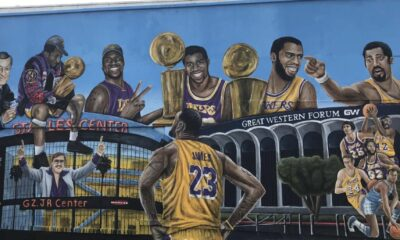 LeBron James, Lakers, Mural